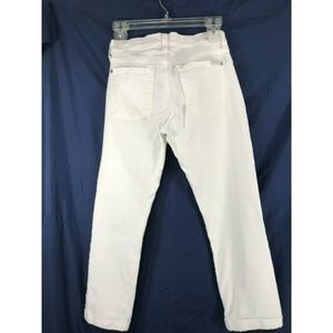 7 For All Mankind Jeans - 7 For All Mankind 27 Skinny Crop & Roll White Jean